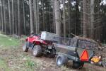 Sklopný vozík za štvorkolku alebo malotraktor