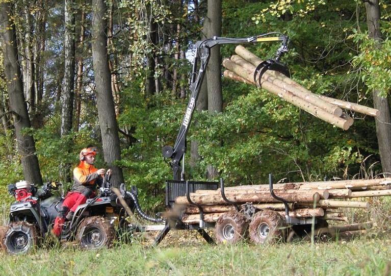 ATV vyvážačka pre štvorkolku