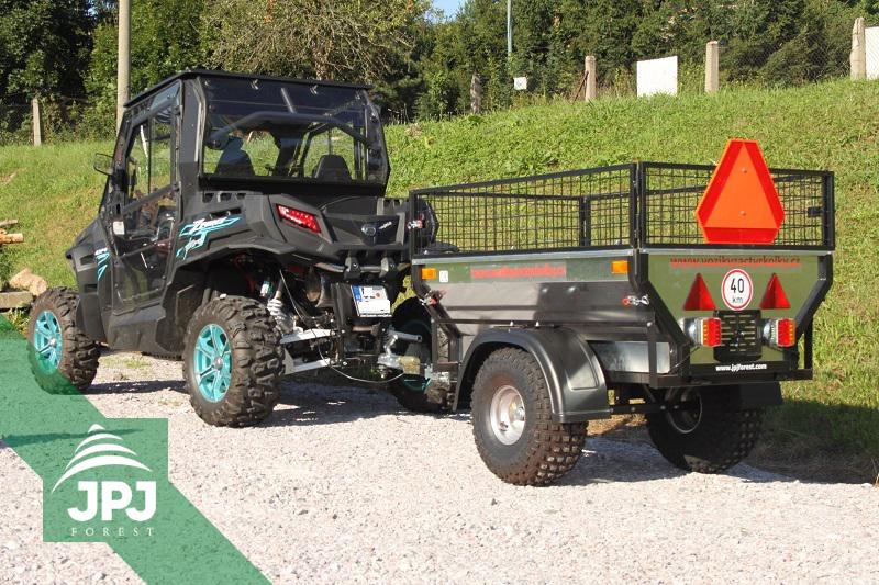 RZR vozidlo a homologovaný ATV vozík Zahradník