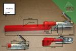 Rozmery závesného zariadenia pre prívesy za štvorkolky